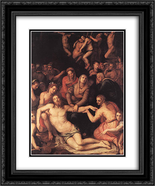 Deposition from the Cross 20x24 Black or Gold Ornate Framed and Double Matted Art Print by Agnolo Bronzino