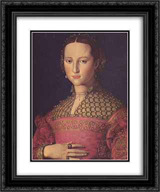 Eleonora da Toledo 20x24 Black or Gold Ornate Framed and Double Matted Art Print by Agnolo Bronzino