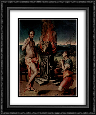 Galatea and Pygmalion 20x24 Black or Gold Ornate Framed and Double Matted Art Print by Agnolo Bronzino