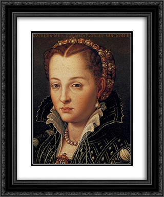 Lucrezia di Cosimo 20x24 Black or Gold Ornate Framed and Double Matted Art Print by Agnolo Bronzino