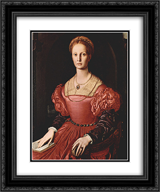 Lucrezia Panciatichi 20x24 Black or Gold Ornate Framed and Double Matted Art Print by Agnolo Bronzino