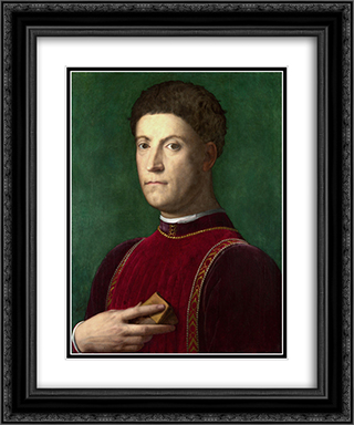 Piero de Medici il Gottoso 20x24 Black or Gold Ornate Framed and Double Matted Art Print by Agnolo Bronzino