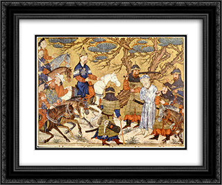Ardashir captures Ardawan 24x20 Black or Gold Ornate Framed and Double Matted Art Print by Ahmad Musa