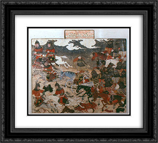 Darab and Rastnawan fight the Rumis 22x20 Black or Gold Ornate Framed and Double Matted Art Print by Ahmad Musa