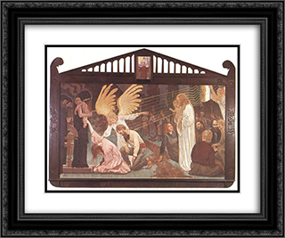 Ego sum via, veritas et vita 24x20 Black or Gold Ornate Framed and Double Matted Art Print by Aladar Korosfoi Kriesch