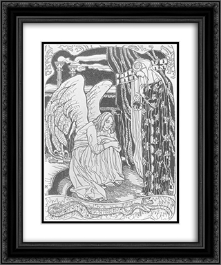 Memory 20x24 Black or Gold Ornate Framed and Double Matted Art Print by Aladar Korosfoi Kriesch