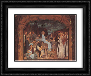 Szekely Folk Tales 24x20 Black or Gold Ornate Framed and Double Matted Art Print by Aladar Korosfoi Kriesch