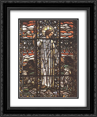 The Good Pastor 20x24 Black or Gold Ornate Framed and Double Matted Art Print by Aladar Korosfoi Kriesch