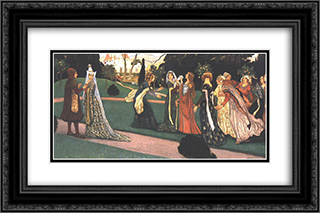 The Story of Klara Zach I 24x16 Black or Gold Ornate Framed and Double Matted Art Print by Aladar Korosfoi Kriesch