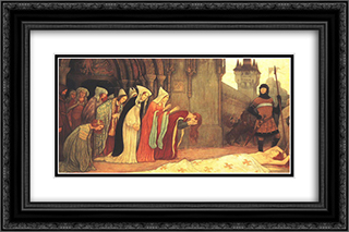 The Story of Klara Zach II 24x16 Black or Gold Ornate Framed and Double Matted Art Print by Aladar Korosfoi Kriesch
