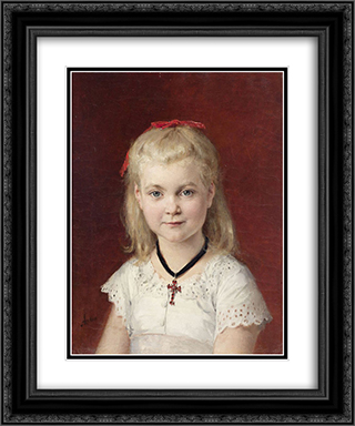 Bildnis Emilie Weiss 20x24 Black or Gold Ornate Framed and Double Matted Art Print by Albert Anker