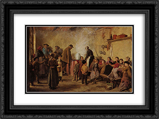 Die Armensuppe 24x18 Black or Gold Ornate Framed and Double Matted Art Print by Albert Anker