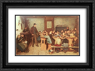 Die Dorfschule von 1848 24x18 Black or Gold Ornate Framed and Double Matted Art Print by Albert Anker