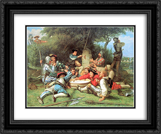 Die Kappeler Milchsuppe 24x20 Black or Gold Ornate Framed and Double Matted Art Print by Albert Anker