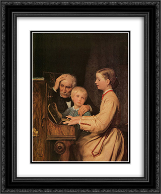 Die Verbannten 20x24 Black or Gold Ornate Framed and Double Matted Art Print by Albert Anker