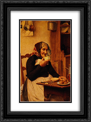 Grandmother 18x24 Black or Gold Ornate Framed and Double Matted Art Print by Albert Anker