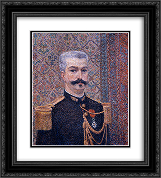 Portrait of Monsieur Pool 20x22 Black or Gold Ornate Framed and Double Matted Art Print by Albert Dubois Pillet