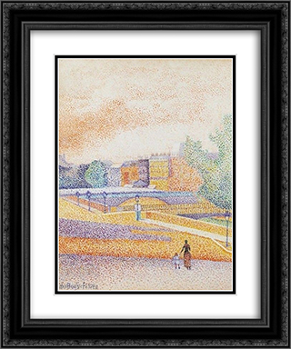 Vue de Paris 20x24 Black or Gold Ornate Framed and Double Matted Art Print by Albert Dubois Pillet