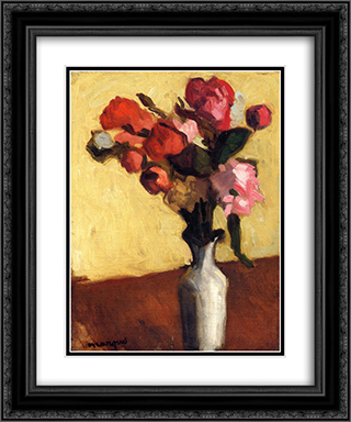 Bouquet of Flowers 20x24 Black or Gold Ornate Framed and Double Matted Art Print by Albert Marquet