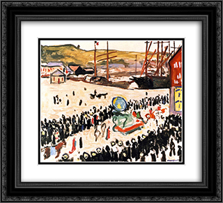 Carnival on the Beach 22x20 Black or Gold Ornate Framed and Double Matted Art Print by Albert Marquet