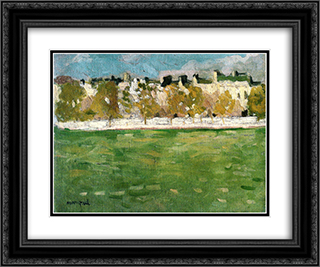 Embankments of the Seine in Paris 24x20 Black or Gold Ornate Framed and Double Matted Art Print by Albert Marquet