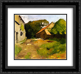 Farmyard at La Percaillerie (Normandy) 22x20 Black or Gold Ornate Framed and Double Matted Art Print by Albert Marquet