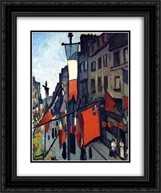 July 14th at Havre 20x24 Black or Gold Ornate Framed and Double Matted Art Print by Albert Marquet
