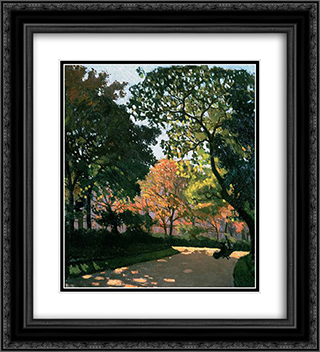 Le Jardin du Luxembourg 20x22 Black or Gold Ornate Framed and Double Matted Art Print by Albert Marquet