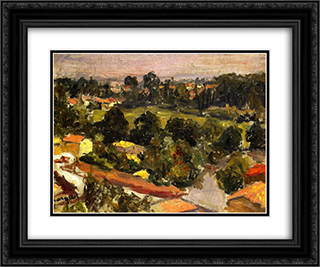 Parisian Suburb 24x20 Black or Gold Ornate Framed and Double Matted Art Print by Albert Marquet