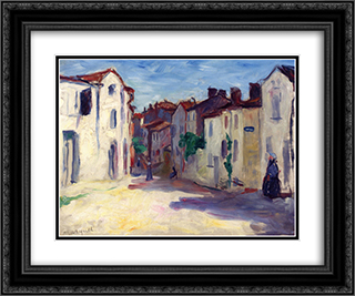 Pons, Charente-Maritime 24x20 Black or Gold Ornate Framed and Double Matted Art Print by Albert Marquet