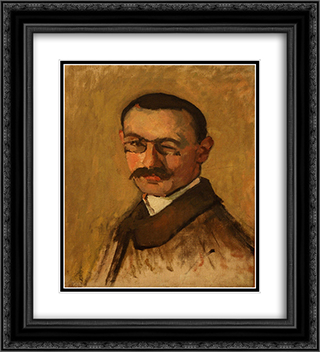 Self-Portrait 20x22 Black or Gold Ornate Framed and Double Matted Art Print by Albert Marquet