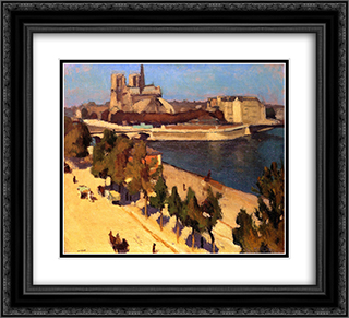 The Apse of Notre Dame 22x20 Black or Gold Ornate Framed and Double Matted Art Print by Albert Marquet