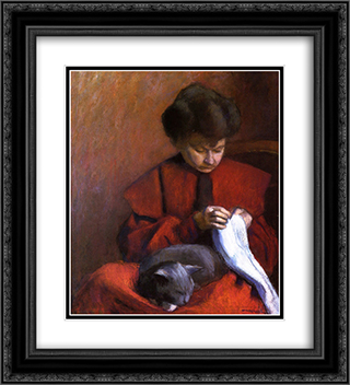The Artist's Mother 20x22 Black or Gold Ornate Framed and Double Matted Art Print by Albert Marquet