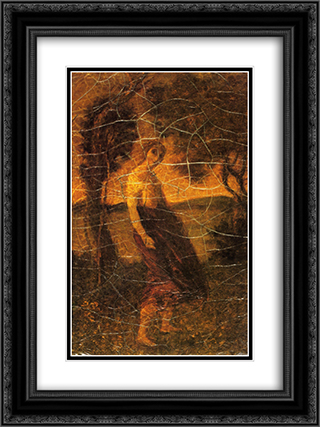 A Country Girl 18x24 Black or Gold Ornate Framed and Double Matted Art Print by Albert Pinkham Ryder