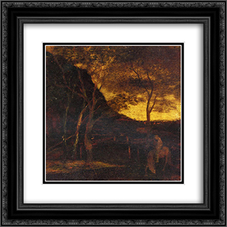 At the Ford 20x20 Black or Gold Ornate Framed and Double Matted Art Print by Albert Pinkham Ryder
