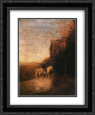 Childe Harold's Pilgrimage 20x24 Black or Gold Ornate Framed and Double Matted Art Print by Albert Pinkham Ryder