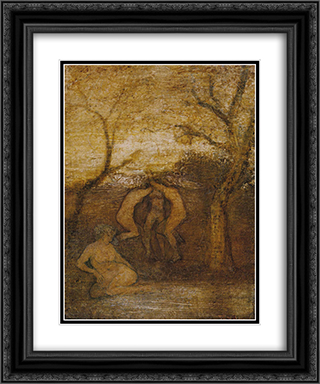 Dancing Dryads 20x24 Black or Gold Ornate Framed and Double Matted Art Print by Albert Pinkham Ryder