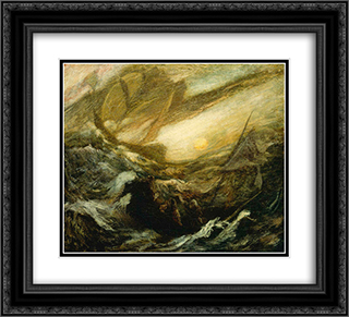 Flying Dutchman 22x20 Black or Gold Ornate Framed and Double Matted Art Print by Albert Pinkham Ryder