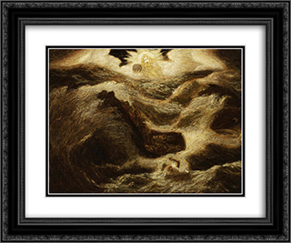 Jonah 24x20 Black or Gold Ornate Framed and Double Matted Art Print by Albert Pinkham Ryder