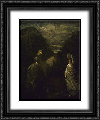 King Cophetua and the Beggar Maid 20x24 Black or Gold Ornate Framed and Double Matted Art Print by Albert Pinkham Ryder