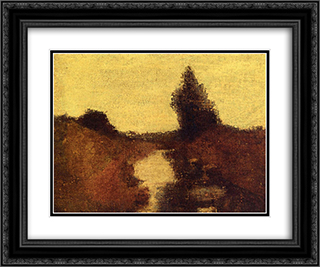 Landscape 24x20 Black or Gold Ornate Framed and Double Matted Art Print by Albert Pinkham Ryder