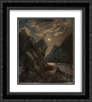 Lorelei 20x22 Black or Gold Ornate Framed and Double Matted Art Print by Albert Pinkham Ryder