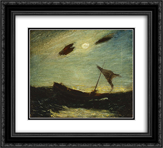 Moonlight 22x20 Black or Gold Ornate Framed and Double Matted Art Print by Albert Pinkham Ryder