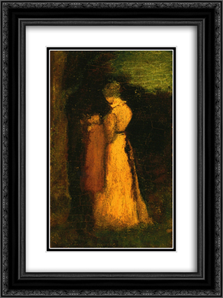 Mother and Child 18x24 Black or Gold Ornate Framed and Double Matted Art Print by Albert Pinkham Ryder