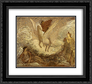 Pegasus Departing 22x20 Black or Gold Ornate Framed and Double Matted Art Print by Albert Pinkham Ryder