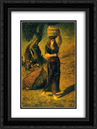 Perrette 18x24 Black or Gold Ornate Framed and Double Matted Art Print by Albert Pinkham Ryder