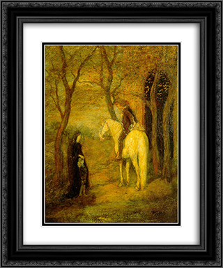 Roadside Meeting 20x24 Black or Gold Ornate Framed and Double Matted Art Print by Albert Pinkham Ryder