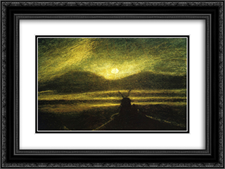 The Old Mill by Moonlight 24x18 Black or Gold Ornate Framed and Double Matted Art Print by Albert Pinkham Ryder