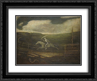 The Race Track (Death on a Pale Horse) 24x20 Black or Gold Ornate Framed and Double Matted Art Print by Albert Pinkham Ryder