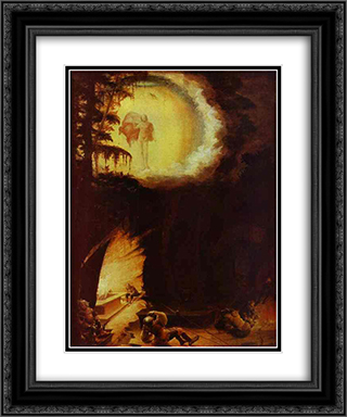 Ascension of Christ 20x24 Black or Gold Ornate Framed and Double Matted Art Print by Albrecht Altdorfer